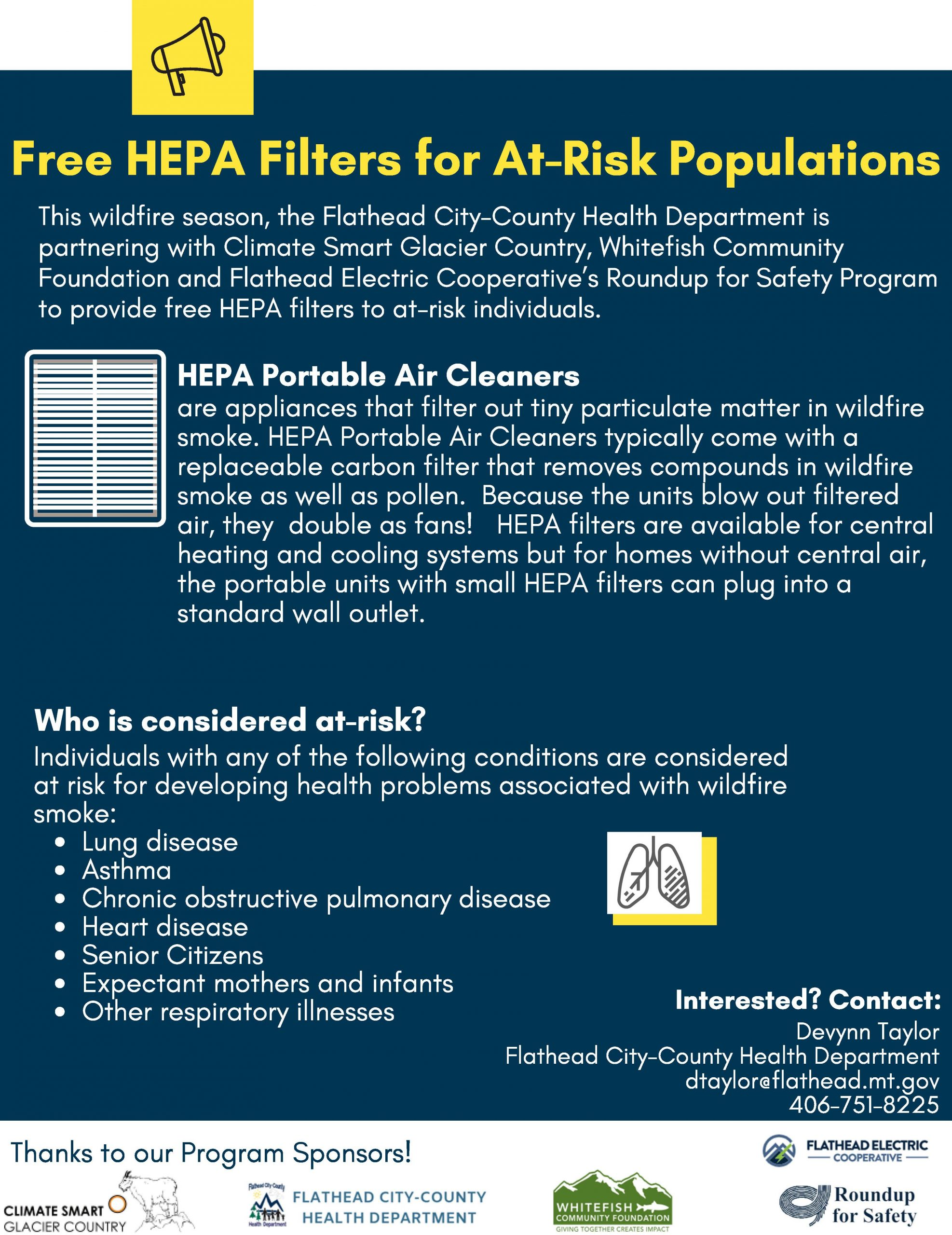 Hepa Air Cleaners For Wildfire Smoke Climate Smart Glacier Country